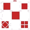 Scrap-mal vierkant   per stuk