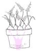 Pot with Spring Onions   per stuk