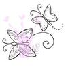 Two Butterflies   per stuk