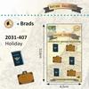 Vintage Brads Holiday 6pcs