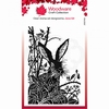 Lino Cut - Hare in the Brambles by Jane Gill