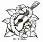 Aloha  Gitaar met bloemenslinger   per stuk