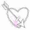 Heart with Arrow   per stuk