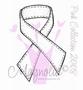 Pink Stiched Ribbon   per stuk