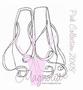Pink Ballerina Shoes   per stuk