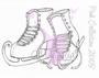 Pink Skates   per stuk