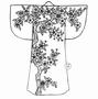 Cherry Kimono   per stuk
