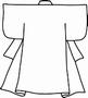 Blanco Kimono   per stuk