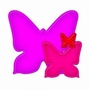 Nested Butterfly   setje van 3