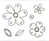 3D Flowers   per stuk