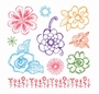 Clear Stamps Bloemen   per vel