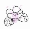 Flower with ladybug   per stuk