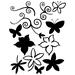 Doodle en bloemen Clear stempelset   per vel