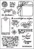 Eline's Vintage Clear Stamps Christmas   per vel