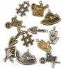 Tuingereedschappen  6x Antique Brass & 6x Silver