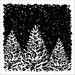 Drie kerstbomen   per stuk