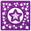 Vierkant met losse ster   per stuk