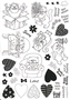 A4 vel Clear stamps Power Cats    per vel