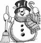 Grote Sneeuwman   per stuk