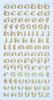 Letters goudkleurig.   per vel