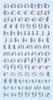 Letters zilverkleurig   per vel
