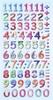 Cijfers Design Multicolor.   per vel