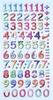 Cijfers Design Multicolor.