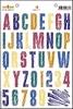 Alfabet Sans Serif en Effectstempel   per stuk