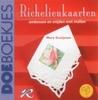 Richelieukaarten. Embossen en snijden met mallen   per stuk