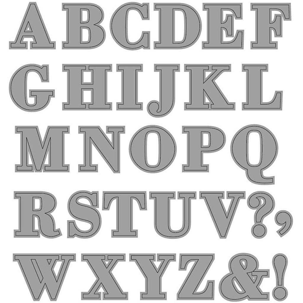 Alfabet-, tekst- en cijfer stansen en stencils