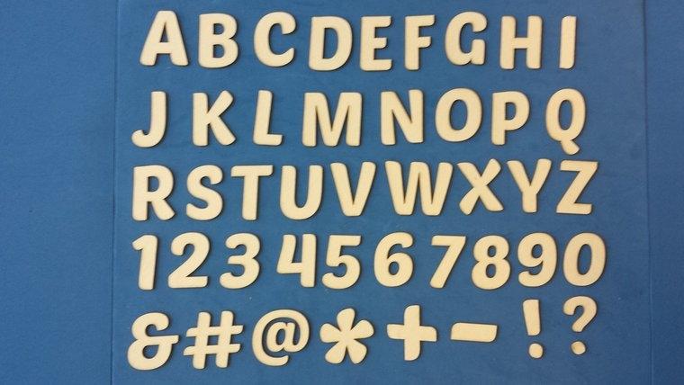 Alfabet 4 cm Chipboard