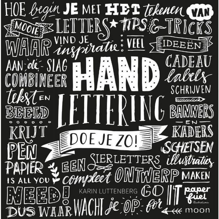 Handlettering , schoonschrijven en Kalligrafie