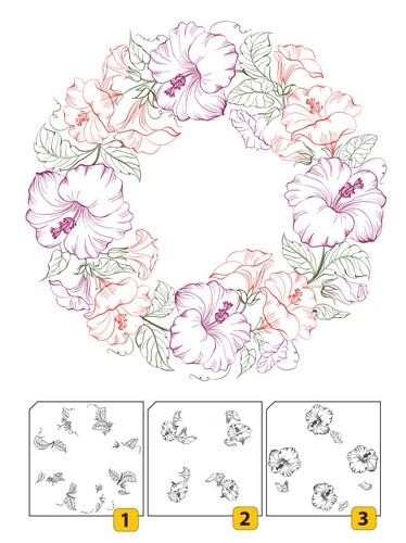 Layered clear stamp sets