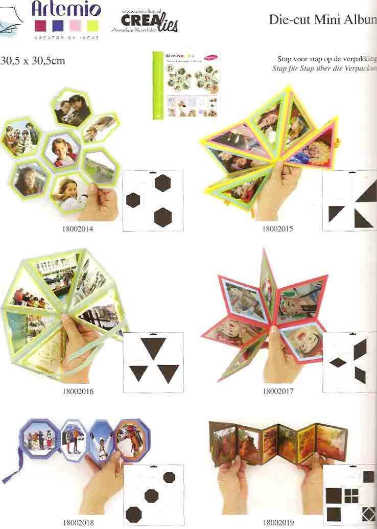 Mallen voor het maken van miniboekjes