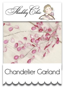 Shabby Chic Chandelier Garland